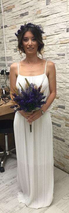 #savethedate #dress #flower #hair #makeup