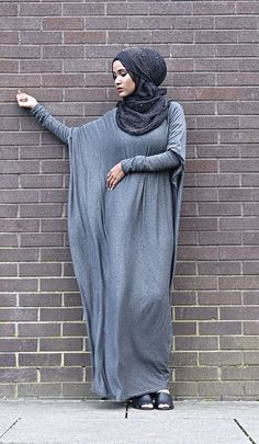 Plain Jersey Batwing Abaya via Hijabi Style Fashion Shoppe. Click on the image to see more!