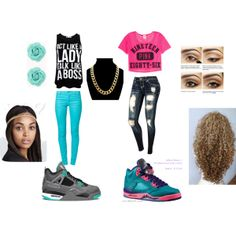 """SWAGG!!!!"" by beautiful-nini on Polyvore cheap air jordan 5 only $63 , save up to 59% off for all #Nikes #Shoes"
