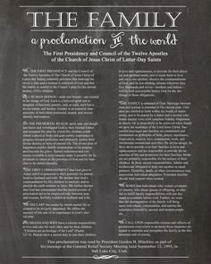 The Family Proclamation FREE printables