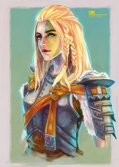 Mjoll the Lioness,Skyrim,The Elder Scrolls,фэндомы,art барышня,красивые картинки,MonoriRogue,TES Персонажи,TES art