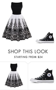 """Untitled #412"" by lindethiel on Polyvore featuring Converse"