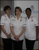 The Physio team outside the Cryotherapy Pod (first London hospital to have cryotherapy in the hospital)