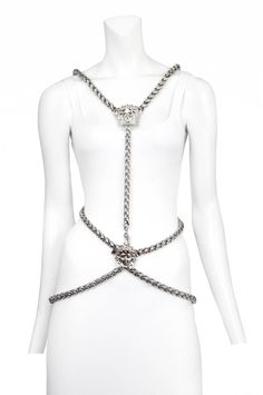 3500 Vintage Versace Medusa Body Chain Harness
