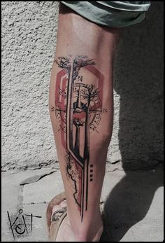 - inspiration_for_tattoo _Koit - Compass Tattoos Arm, Compass Tattoo Design, Cool Forearm Tattoos, Dope Tattoos, Leg Tattoos, Body Art Tattoos, Tattoos For Guys, Mass Effect Tattoo, Chevron Tattoo