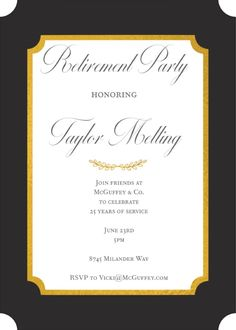 134 best retirement invitations images in 2018 retirement party