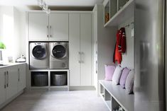 We design Bespoke Furniture for your Bedroom, Kitchen, Bathroom, and every room of your home. Mudroom Laundry Room, Laundry Room Design, Modern Laundry Rooms, Modern Room, Boot Room Utility, Ikea Utility Room, Utility Sink, Utility Room Storage, Alcove Storage