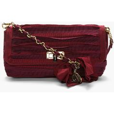 LANVIN Maroon Red Happy Pouch Shoulder Bag by None, via Polyvore