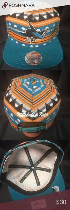 Mitchell & Ness SAN Jose Sharks Aztec Snapback Hat NWT Mitchell & Ness SAN Jose Sharks Aztec Patterned Snapback Hat. Purchased at the Flagship Store. Mitchell & Ness Accessories Hats