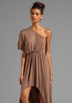 NAVEN Casuals Asymmetric High-Low Dress in Linen