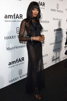 See the most glamorous celebrity looks from all the best parties at Milan Fashion Week: Naomi Campbell