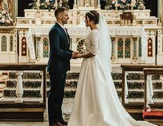 Church Dress A Guide To Catholic Wedding Vows: The Exchange of Consent catholic wedding vows newlyweds at the church Catholic Wedding Dresses, Church Dresses, Church Wedding Catholic, Catholic Churches, Wedding Bible, Wedding Vows, Wedding Ceremonies, Wedding Rustic, Wedding Reception
