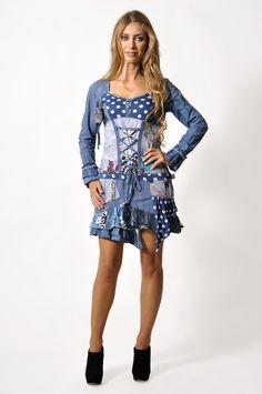 ¿No creéis que está muy elaborado? Vestido ALBA Barcelona Fashion, Casual, Dresses, Vestidos, Dress, Gown, Outfits, Dressy Outfits