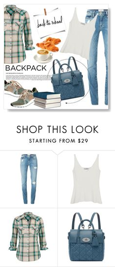 """""""Back to School: New Backpack"""" by viola279 ❤ liked on Polyvore featuring Frame Denim, Mulberry, maurices and adidas"""