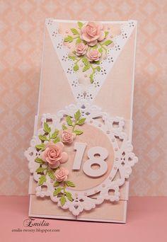 Składaczek na 18-stke/Kartka urodzinowa/Birthday card