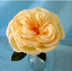 Love to make crepe paper roses? Here's how to make a cabbage rose.