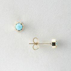 Grace Lee Petite Turquoise Crown Bezel Earrings | Women's Jewelry | Steven Alan