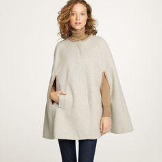 wool cape coat, J.crew
