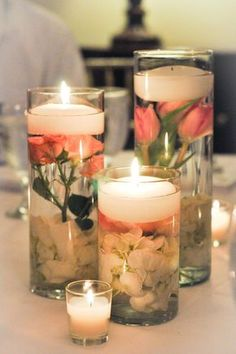 Beautiful candle idea. Mais