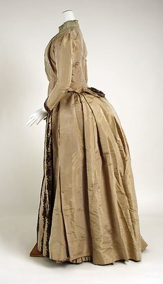 Dress (image 2) | Thellier | French | 1880-1885 | silk | Metropolitan Museum of Art | Accession Number: 1995.463.1a–f