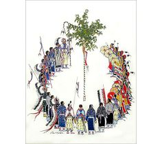 Native American print by Paul Goble: Victory Dance