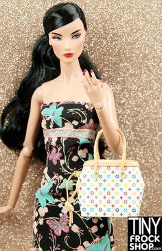 Barbie Faux Designer Style Monogram Multicolored Bag OOAK -NEW STYLE!