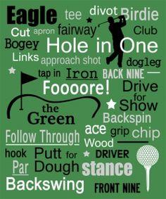 Image Detail for - Golf Art Print