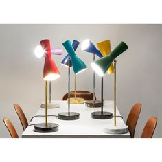 Wormhole Numer 4 - Table Lamp Red/Gold