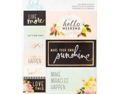 Stickers Chipboard de Heidi Swapp ser feliz por LetUsCelebrate