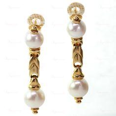 BULGARI Passo Doppio Pearl Gold Necklace Bracelet & Earrings Set