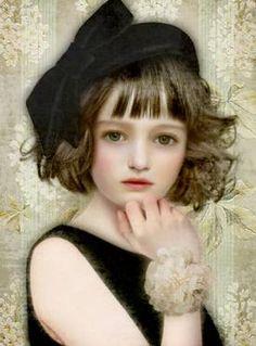 Singular portraits of young girls -- by Miharu Yokota, Japanese