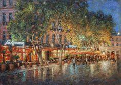 Ночные улицы Рима картина И.В.Разживина