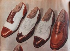 1940s Mens Shoes - 1940′s Men's Two Tone Shoes (1947)