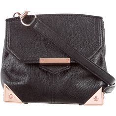 Pre-owned Alexander Wang Leather Marion Crossbody Bag ($330) ❤ liked on Polyvore featuring bags, handbags, shoulder bags, black, leather crossbody handbags, leather man bags, leather handbags, leather purses and purse crossbody