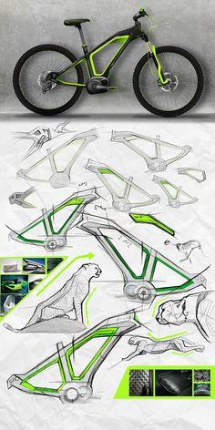 New Ideas bike sketch design galleries Bio Design, Design Logo, Design Poster, Sketch Design, Design Art, E Mountain Bike, Tron Bike, Bike Sketch, Design Presentation