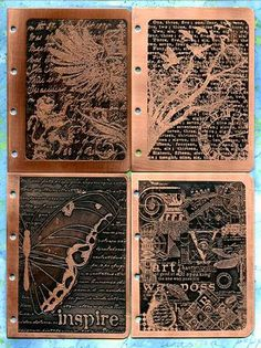 Metal etching - used for covers  for journals/books