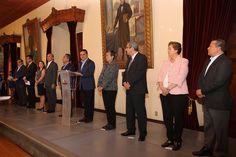 Durante la presentación de los 8 relevos institucionales en su gabinete, el gobernador de Michoacán exhortó a sus nuevos funcionarios a desempeñarse con responsabilidad, entrega y eficacia – Morelia, Michoacán, ...