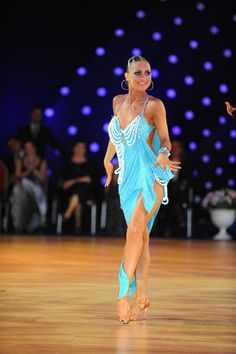 blue latin dress