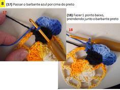Esta flor Amor Perfeito é uma criação do Marcelo Nunes.   Saiu no fasciculo 3 da revista Crochetando com Marcelo, da Euro Fios.Com essa fl...