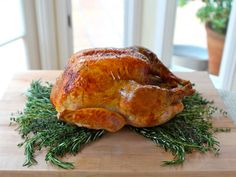 Alton Brown Classic Roast Turkey. My go to recipe during the holidays. There's a video tutorial on how to cook the turkey on Food network.