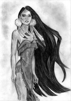 Pocahontas, indian girl by gen-vanilla on deviantart indian drawings in 201 American Indian Girl, Native American Girls, Native American Pictures, Indian Girls, Indian Art, Native American Drawing, Native American Tattoos, Native American Paintings, Pocahontas