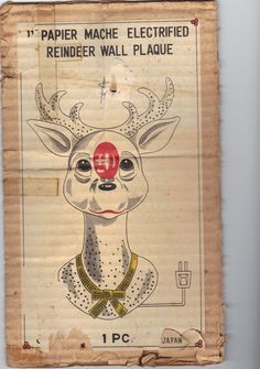 Box for the Rudolph decoration that hangs in my house.