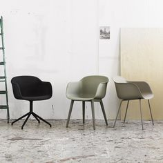 Fiber chairs by Muuto.