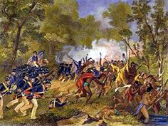 The Battle of Tippecanoe November 7, 1811, fought between the United States and Native Americans under Tecumseh. Painting by Alonzo Chappel