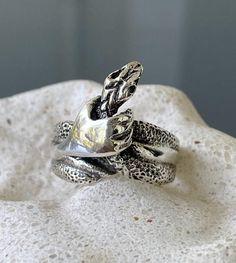 Snake ring silver snake ring handmade snake ring silver | Etsy