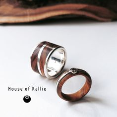 Wedding set for a very special couple in Olive Wood, white gold and sterling silver Wedding Sets, Wedding Rings, Wedding Stuff, Wedding In The Woods, Rings For Men, Jewelry Design, White Gold, Engagement Rings