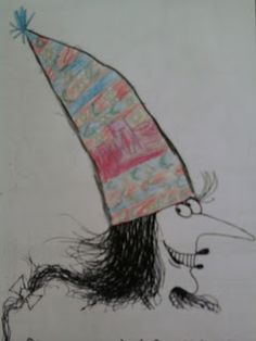 New hats for Winnie the witch from Grade Class A Halloween Drawings, Ecole Art, 5th Grades, Monster, Kids And Parenting, Art For Kids, Witches, Cool Stuff, Hats