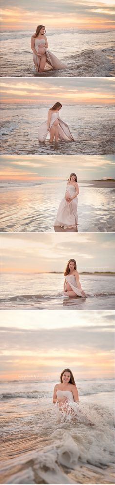 Beach Maternity Session, Maternity session in water, Maternity session in the…