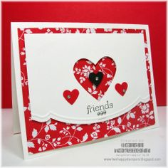 Two Happy Stampers: Adorning Accent Valentine Valentine Greeting Cards, Making Greeting Cards, Scrapbooking, Scrapbook Cards, Cute Cards, Quick Cards, Alice, Cards For Friends, Card Tags