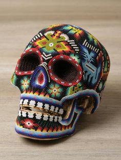 Beaded Skulls from Mexico.